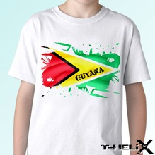 Guyana flag - white t shirt top design - mens womens kids & baby sizes New T Shirts Funny Tops Tee New Unisex Funny Tops