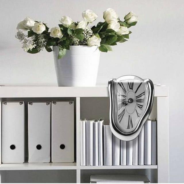 Modern Design Surrealist Salvador Dali Style Wall Clock  Novel Surreal Melting Distorted Wall Clock Amazing Home Decoration 5