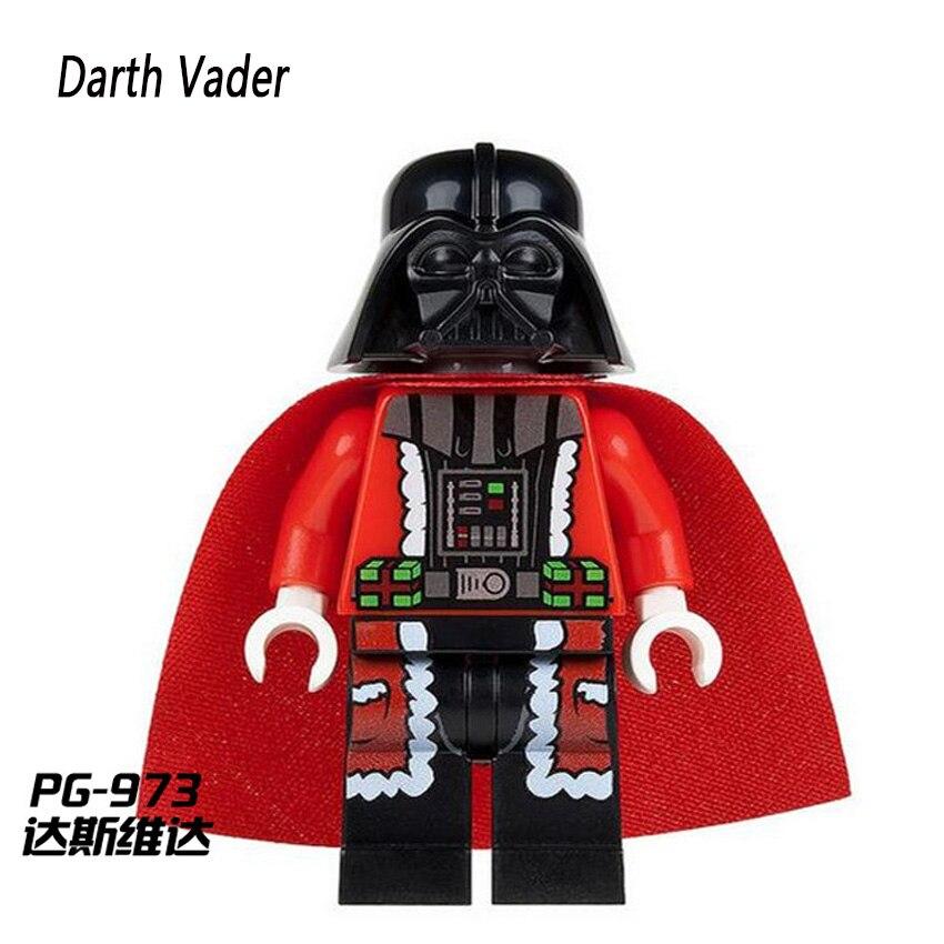 PG973 Darth Vader Christmas Advent Calendar Single Sale Starwars C 3PO Mini Dolls Building Block Children