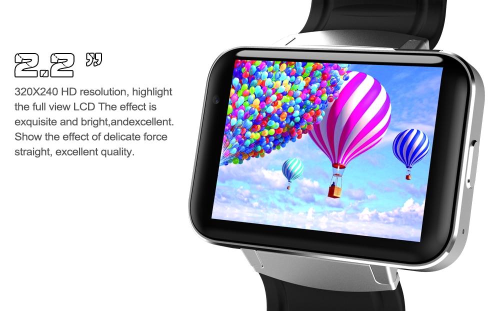 Smartch DM98 Bluetooth montre intelligente Android 4.4 3G Smartwatch téléphone MTK6572 double coeur 1.2 GHz 4 GB ROM caméra WCDMA WiFi GPS - 5
