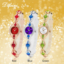 Luxury Women Bracelet Watches Jewelry Diamond Blue Red Ladies Casual Clock Steel Waterproof Female Wristwatch relogio feminino