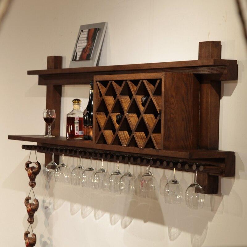 Parede cremalheira do vinho criativo madeira Continental