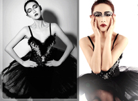 Ballet dress Adult ballet yarn costumes Black swan dance dress feather Ballet tutu sequins professional dress