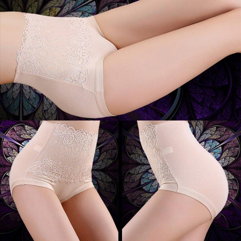 Sexy Slimming High Waist Underwear Women Corset Shapewear Briefs Thin Waist Abdomen Hips Lace Lingerie Boxers Body Shapers 3032