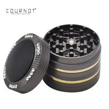 COURNOT Premium Zinc Alloy Tobacco  Grinder 50MM 4Piece Sharp Diamond Teeth Metal Smoking Herb Grinders Suit Smoke Pipe