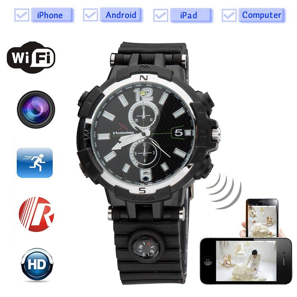 e4c2da20bcd Gravação de monitoramento remoto da câmera de visão noturna wi-fi vides  smart watch quartz
