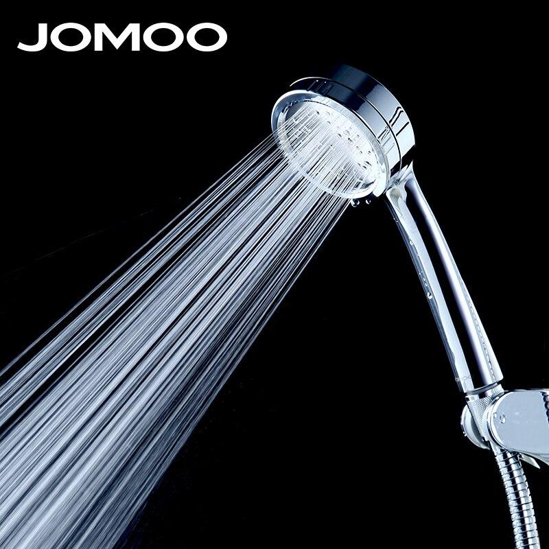 JOMOO Douche D'économie D'eau de Tête Ronde ABS Chrome Booster Bain Douche Haute Pression De Poche Douche À Main de bain Douche