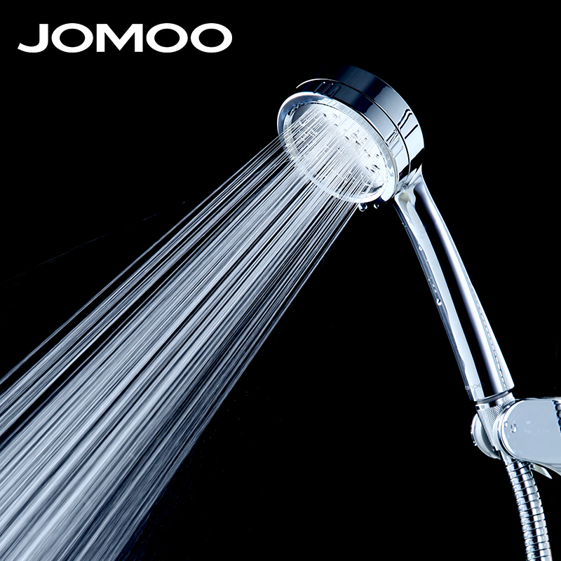 JOMOO Water Saving Round Bathroom Shower Head ABS Chrome Booster Showerhead High Pressure Handheld Hand Shower
