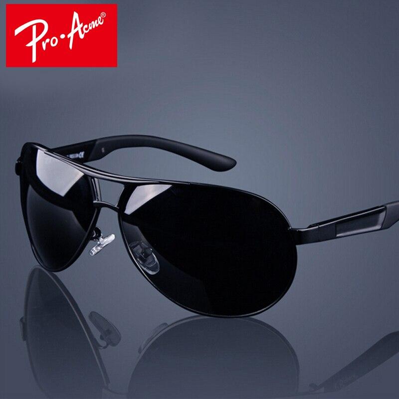 Pro Acme clásico de los hombres gafas de sol polarizadas Polaroid conducción piloto de sol hombre gafas de sol gafas UV400 de alta calidad CC0444