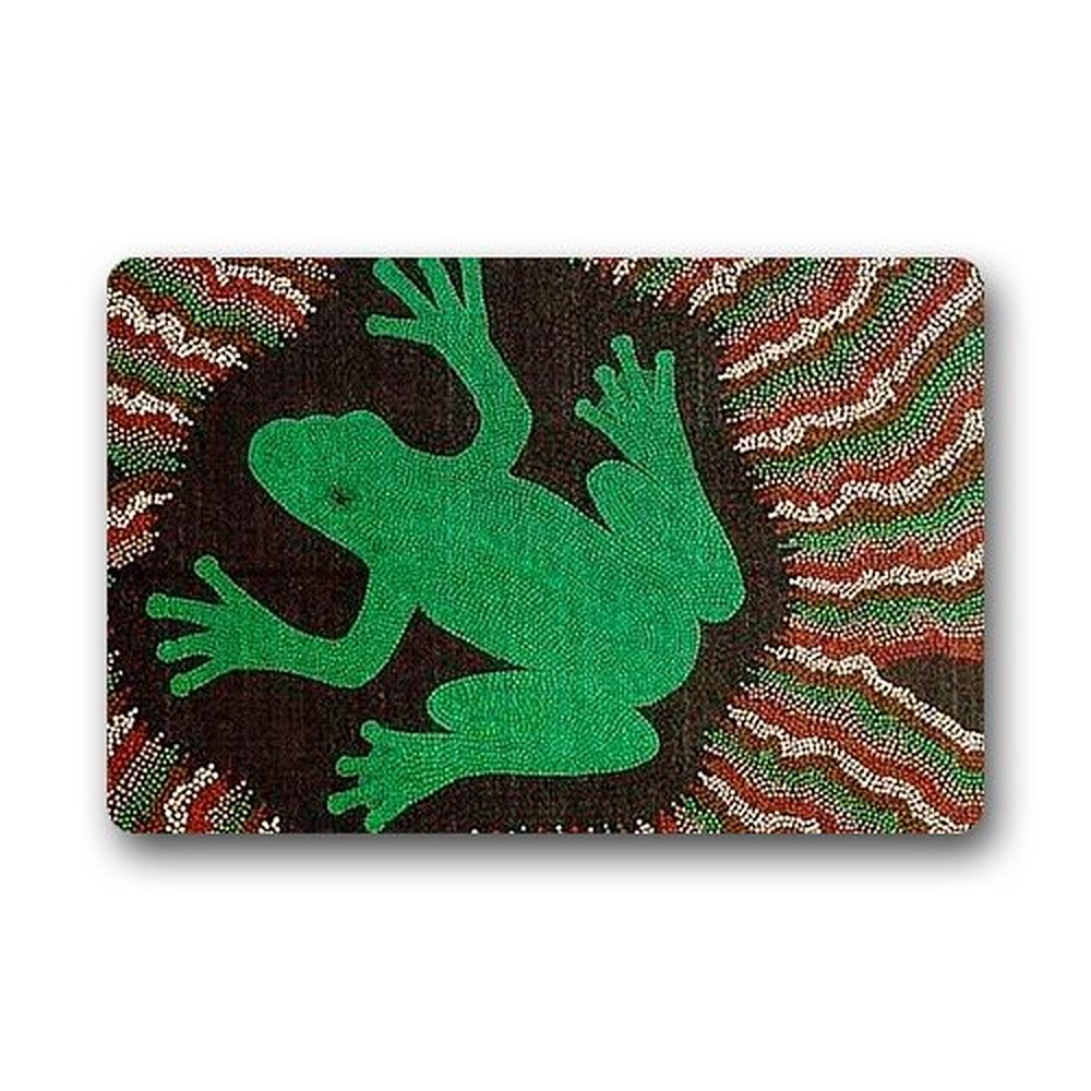 Rubber mats garden - Frog Welcome Doormat Size 18 L W About 46cm L