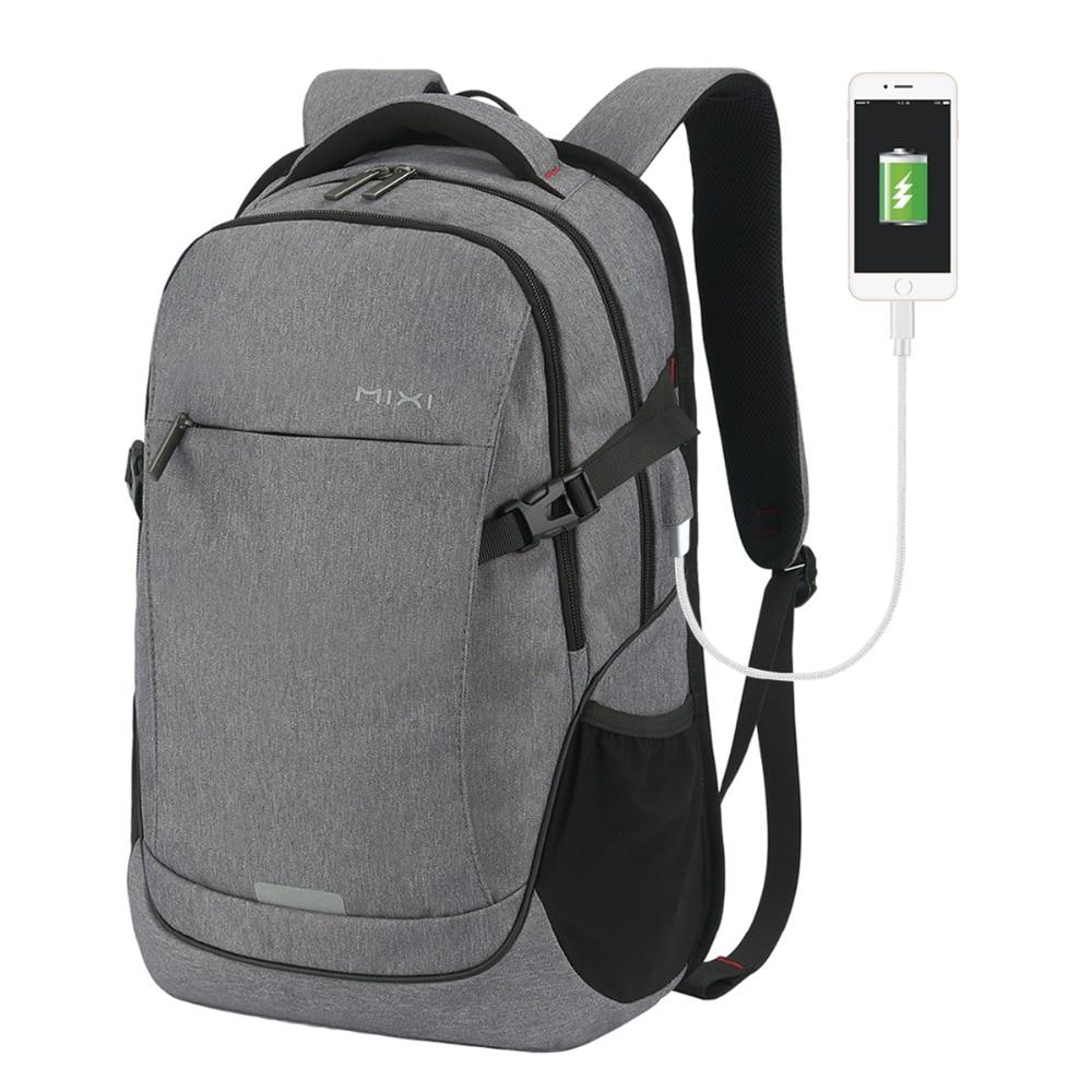 Mixi Men Laptop Backpack Patent Design Fashion Women Travel Backpack Bag Teenager Boy Girl Satchel School Bag Waterproof M5222 new style school bags for boys