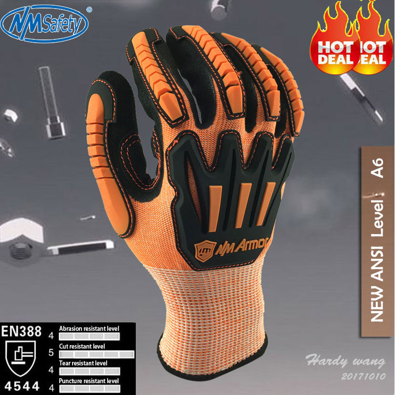 NMSafety Anti Vibration Safety Glove and Shock Resistant Glove with Anti Impact Mechanics Work Gloves nmsafety nitrile solvent gloves oil resistant slip resistant glove chemical work glove