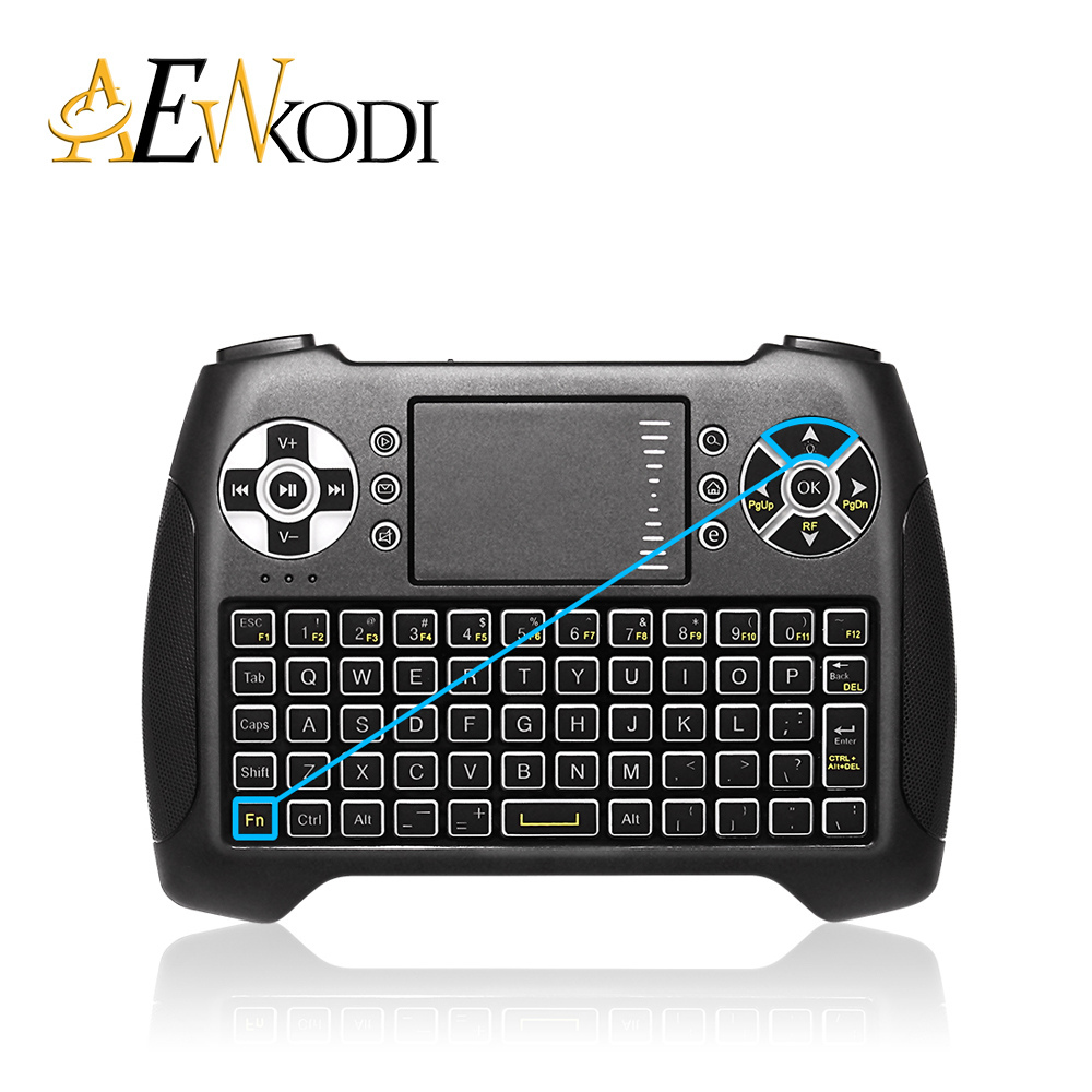 T16 Mini Wireless Keyboard 2.4GHz Game Fly Air mouse for Android / Smart TV Box Three Color Backlight Remote Control Keyboard