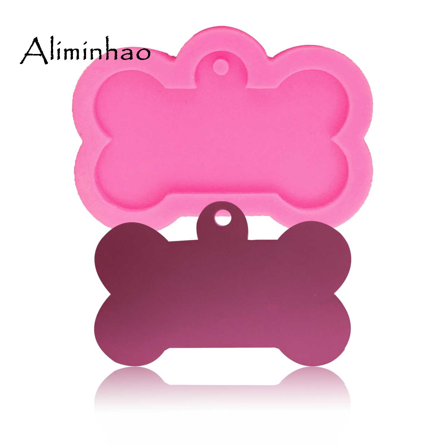 DY0061 Dog bone shape silicone mold for key chain Pendant moulds suitable  for polymer clay DIY Jewelry Making epoxy Resin mold