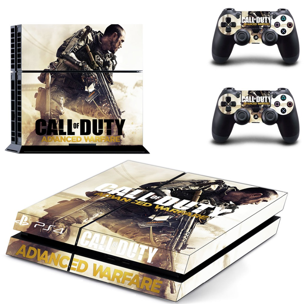 Call of Duty: Advanced WarfareDecal Skin Stickers For Sony Playstation 4 PS4 Console + 2 Pcs Stickers For PS4 Controller