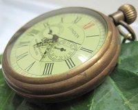 hot !!!Old 3 dials 5 Hands 1856S LONDON Brass Mechanical Pocket Watch free shipping