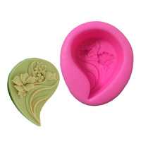 New  Leaf Silicone 3D Flower Mold Fondant Cake Decorating Tools,Four Color Mould, Silicone Soap Mold, Cooking Tools  MK2023