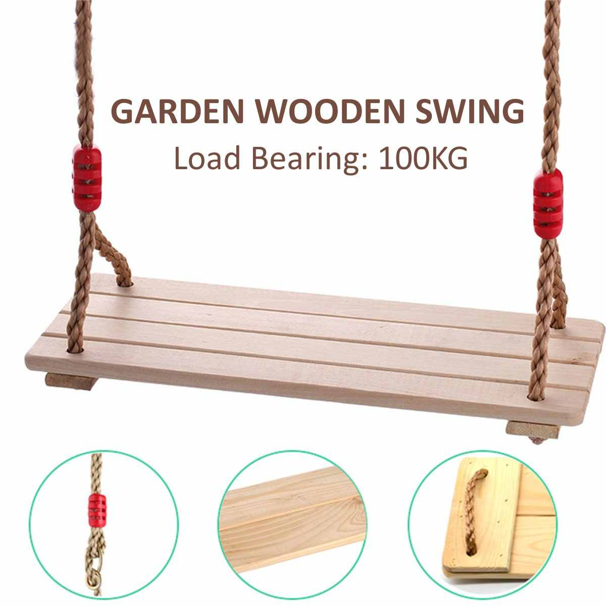Children Adults Outdoor Games 150kg Wooden Swing Seat Chair