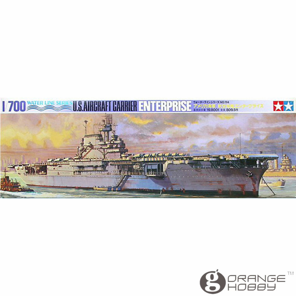 OHS Tamiya 77514 <font><b>1</b></font>/<font><b>700</b></font> U.S. AC Enterprise Assembly <font><b>Scale</b></font> Military <font><b>Ship</b></font> <font><b>Model</b></font> Building Kits G image