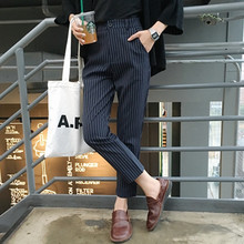2017 Women Black White Stripe Pencil Pants summer fashion Plaid Capris Leggings Trousers Plus Size Women Plus Size Pants