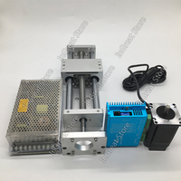 300MM CNC Linear Module Sliding Table XYZ Axis Cross Stage Ballscrew + Nema23 Closed Loop Stepper Motor Driver Power Supply Kit