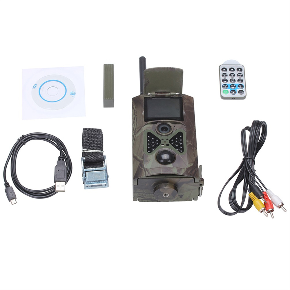 HC500M HD GSM MMS GPRS SMS Control Scouting Infrared Trail Hunting Camera free shipping skatolly hc500m hd 12mp trail hunting camera gsm mms gprs sms control night vision scouting infrared wildlife hunting camera hwc