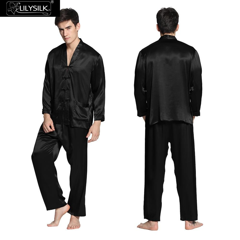 1000-black-22-momme-silk-pyjamas-with-exotic-buttoned-front