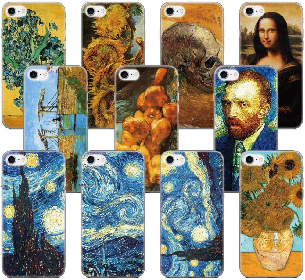 Vincent Van Gogh Painting Capa Case For Samsung Galaxy A5 A7 2018 Version S9 Plus S5 S6 S7 Edge Note 3 4 5 E5 Phone Cover Coque
