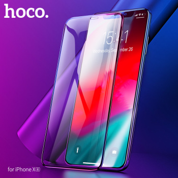 HOCO 2018 NEW for Apple iPhone XR Full HD Tempered Glass Film Screen Protector Protective glue 3D Full Cover Screen Protection 1