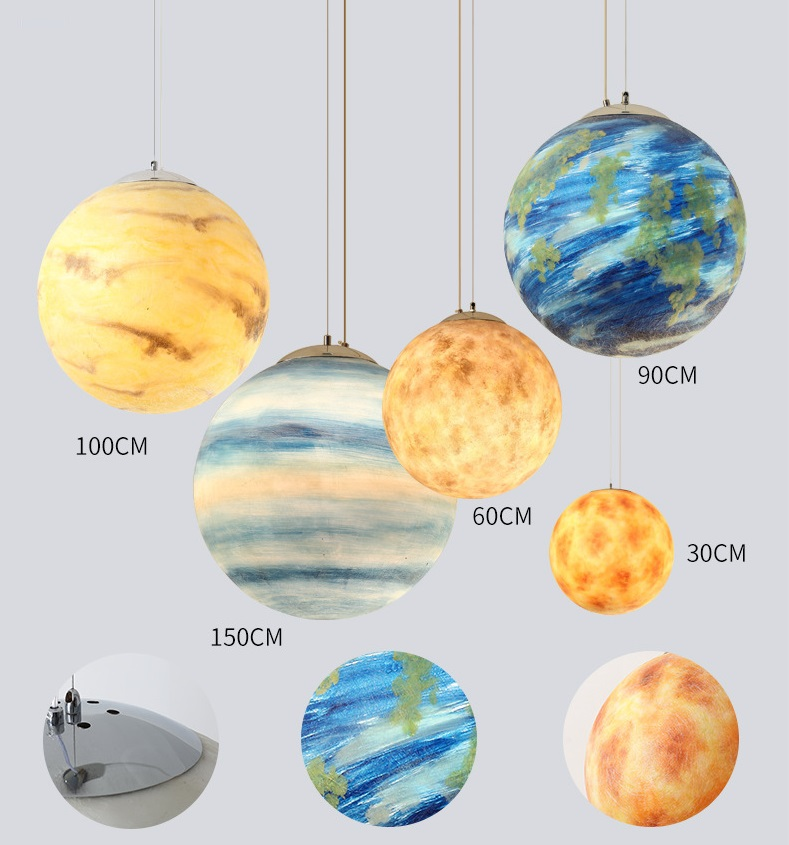 Pendant Light simple Nordic creative personality single head living room dining room bedroom lighting sub-force 2 -15m