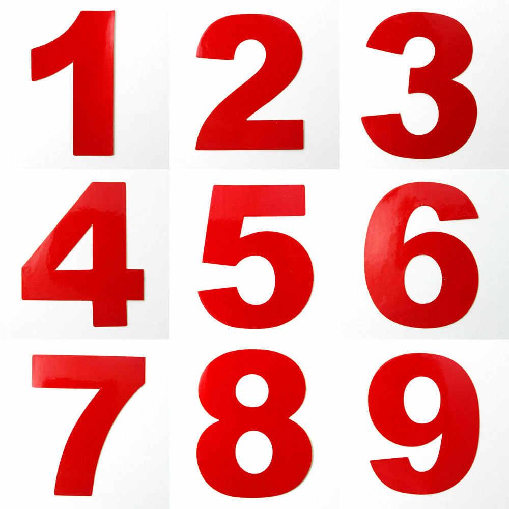 Casa reflexiva endereço da porta caixa de correio número dígitos numeral quarto portão número do carro 0 1 2 3 4 5 6 7 8 9 adesivo decalque 7cm altura