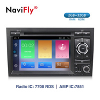 Navifly! 2G+32G Android 9.1 Car dvd radio audio Multimedia Player For Audi A4 B6 B7 S4 B7 B6 RS4 B7 SEAT Exeo GPS Navigation RDS