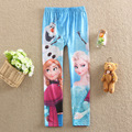 Novo 2017 Crianças 2-8A Primavera Outono Calças Meninas Snow Queen Elsa Anna Moda Leggings Crianças Calças Do Bebê Dos Desenhos Animados Presente de Natal