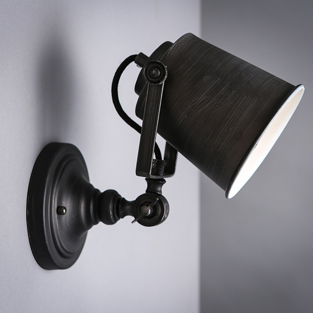 Nordic vintage industrial wall lamp classic black art wall sconce nordic vintage industrial wall lamp classic black art wall sconce decorative adjustable loft led light swing aloadofball Images