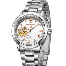 Hombres Masculino relogio del Reloj Superior de la Marca Esqueleto Mecánico Automático impermeable Reloj completo Acero Inoxidable de cuarzo twatches