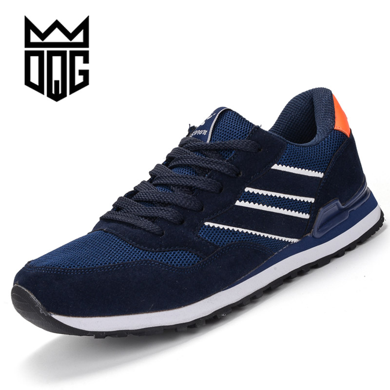 DQG Men Running Shoes Athletic Sport Shoes Unisex Runners Footwear Lace up Light Breathable Mesh Jogging Shoes Zapatos Hombre lace up breathable mesh athletic shoes