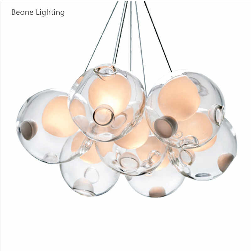 5/7/9/14/26/37/49 Lights LEDs Glass G4 LED Chandeliers Lights Round 28.7 Clear Glass Chandeliers DIY Home Light Kid's Room Light