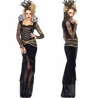 Ведьма Косплэй Для женщин заказчика черное платье для торжеств платье наряд Best продать