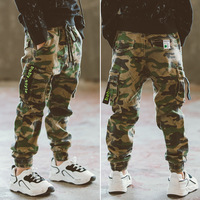 Children's trousers sports trousers camouflage cotton spring and autumn children's trousers boys casual pants 10 12 years old