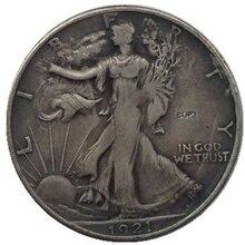 Дата 1921-D 1921-S 1923-S 1927-S 1928-S 1929-D 1929-S 1933-S США идущая Свобода Половина долларовые монеты КОПИЯ