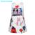 Líder urso Primavera & Outono 2016 Novos Europeus e Americanos Estilo Meninas vestido Branco Caráter graffiti Mangas vestido de princesa