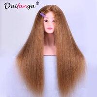 Манекен голова с 85% реальный укладки волос Манекены головы парик нахалы вторглись парикмахерские манекена Учебные головы манекены волос