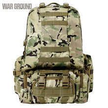 50L combination outdoor mountaineering bag Molle military tactical backpack camouflage hunting bag hiking camping backpack(China)
