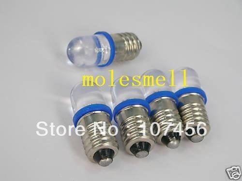 Free Shipping 10pcs Blue E10 12V Led Bulb Light Lamp For LIONEL 1447