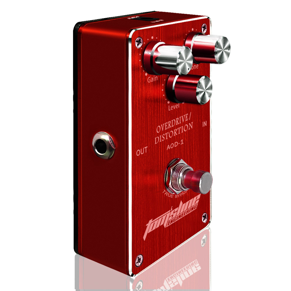 Aroma Overdrive Distortion Guitar Effect Pedal AOD-1 Premium Analogue Metal Case Fet Inside Lower Power High Gain Output aroma dumbler dumble amp simulator guitar effect pedal adr 3 sound overdrive mini analogue volume control gain tone control