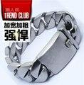 High quality Gothic Vintage bracelets Rock Punk Hiphop Super wide big Link Chain bangle 316L titanium steel men jewelry not fade