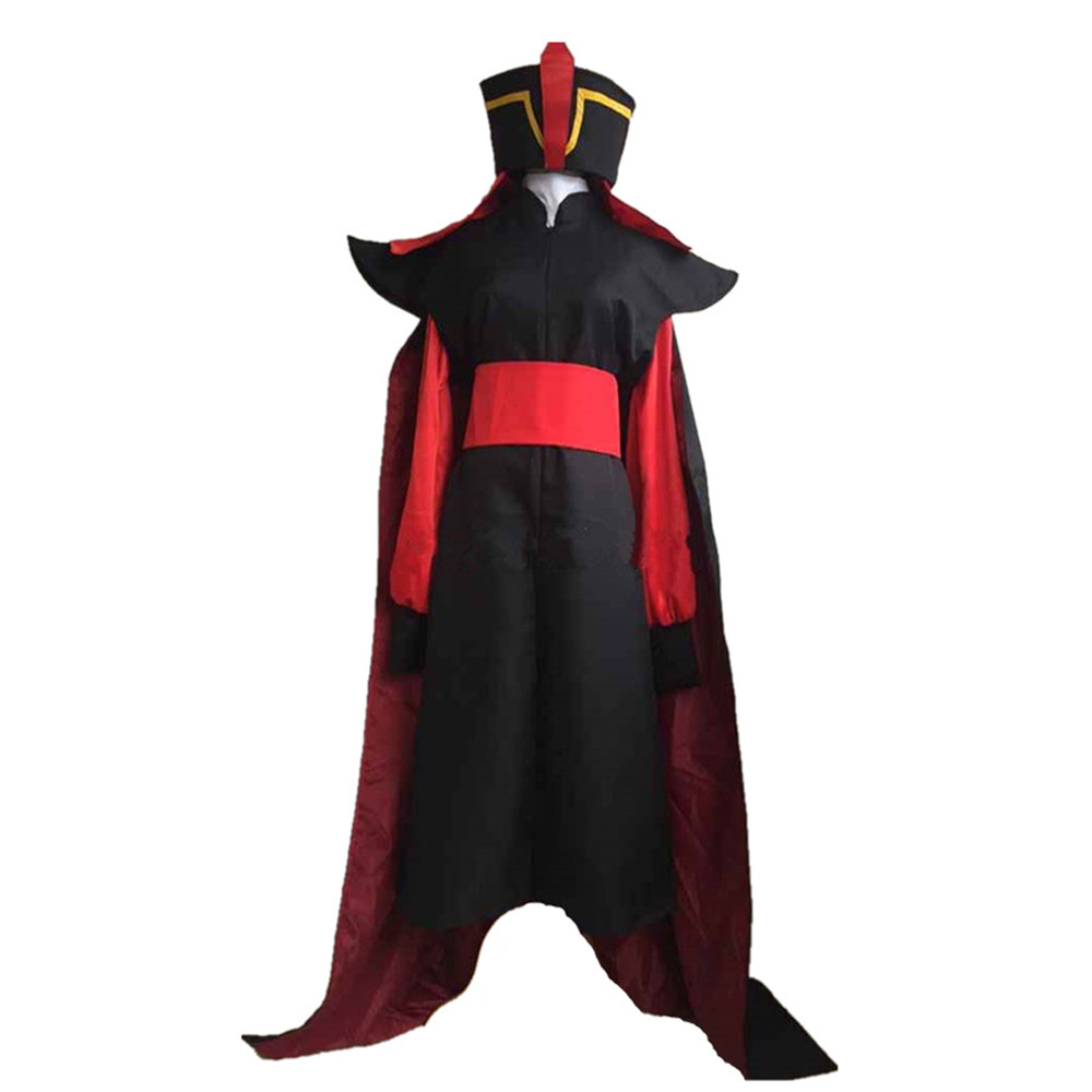 Aladdin Jafar Villain Cosplay Costume Outfit Aladdin Cosplay Costume for Halloween Men Women Adult Cosplay
