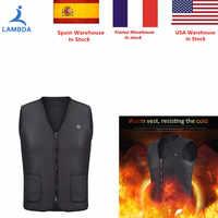2019 nouveau hommes femmes électrique chauffé gilet chauffage gilet USB thermique chaud tissu plume offre spéciale veste d'hiver Sportwear