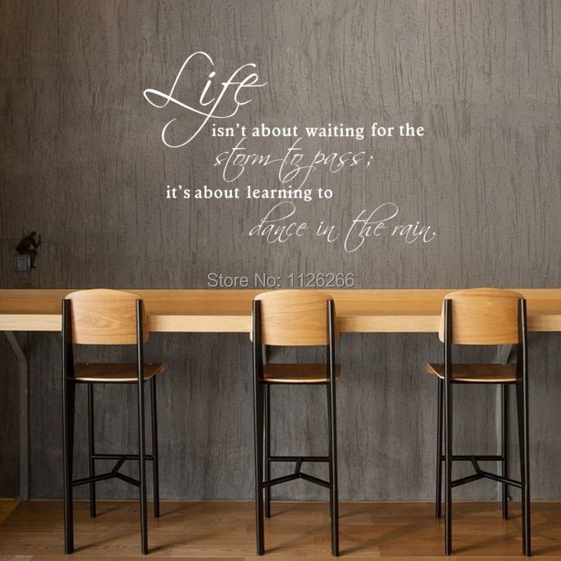 Inspirational Quotes Life Is About Learning To Dance Wall Stickers