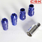 w/KEY 12x1.25 D1 SPEC LOCKING LUG NUTS + ALUMINUM + 4 PIECES+blue